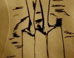 diver on envelope by Skellis